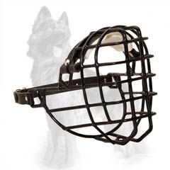German Shepherd Dog Muzzle Suitable for Winter Walking