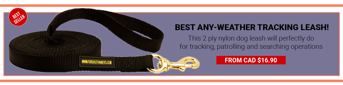 Tracking Nylon Long Line (long leash) for German Shepherd