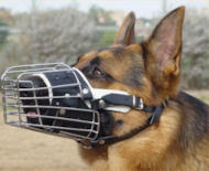 Full Padded Wire Dog Muzzle for German Shepherd-Cage Dog Muzzles